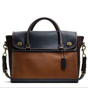 Coach Leather Legacy Utility Flap Commuter